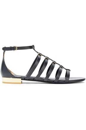 SALVATORE FERRAGAMO Acri ring-embellished leather sandals