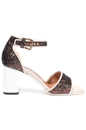 MARNI Glittered patent-leather sandals