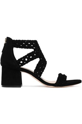 SANDRO Braided suede sandals
