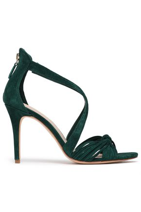 SANDRO Knotted suede sandals