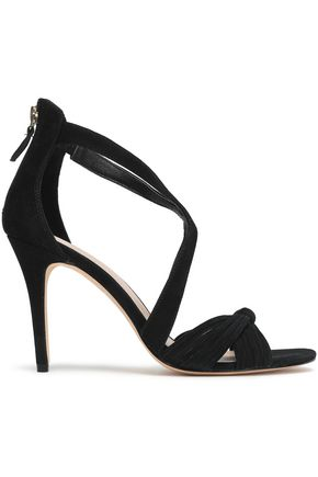 SANDRO Elisa knotted suede sandals