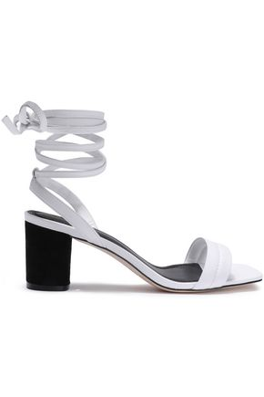 SANDRO Lauren textured-leather sandals