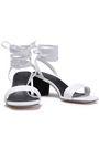 SANDRO Lauren textured-leather sandals