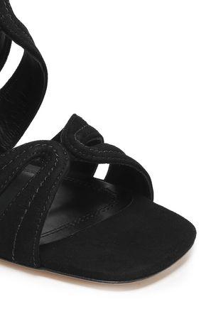 SANDRO Aliza suede sandals