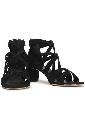 Sandro Woman Aliza Suede Sandals Black