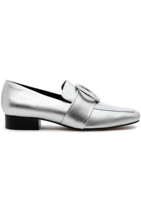 DORATEYMUR Embellished textured-leather loafers