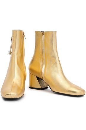 DORATEYMUR Embellished metallic leather ankle boots