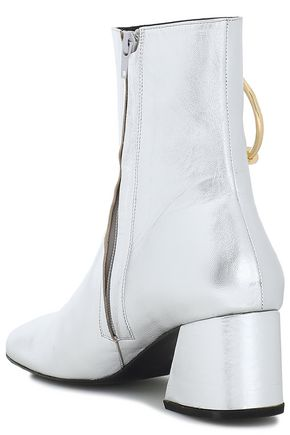 DORATEYMUR Embellished metallic leather ankle boots