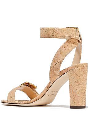 JIMMY CHOO Dacha 85 embellished cork sandals