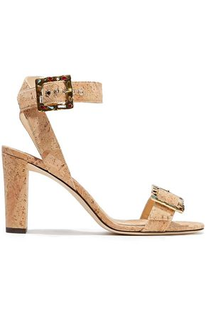 JIMMY CHOO Dacha 85 embellished cork sandals