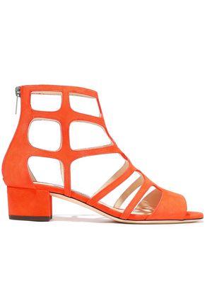 JIMMY CHOO Ren 35 cutout suede sandals