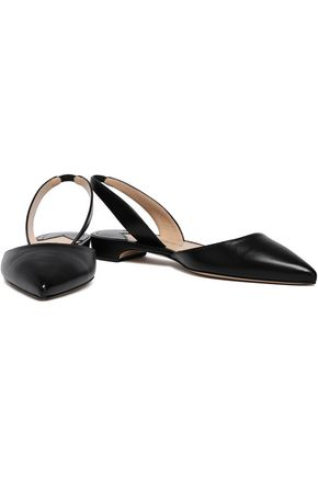 PAUL ANDREW Leather slingback point-toe flats
