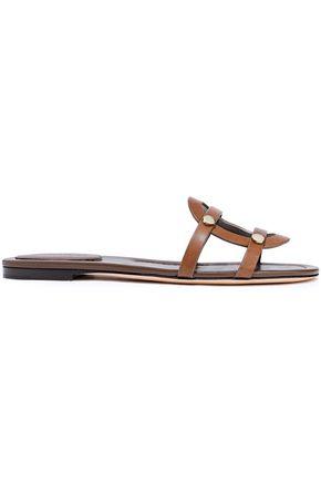 JIMMY CHOO Damaris Flat studded leather slides