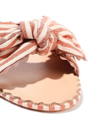LOEFFLER RANDALL Shirley knotted striped canvas slides