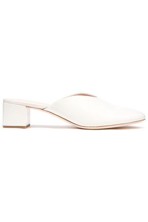 LOEFFLER RANDALL Lulu glossed-leather mules