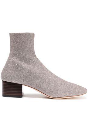 LOEFFLER RANDALL Carter metallic stretch-knit sock boots