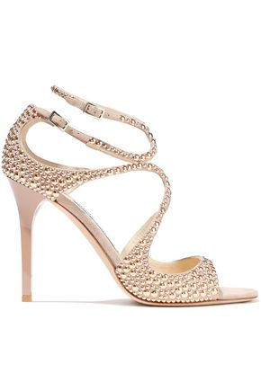 JIMMY CHOO Lang 100 studded suede sandals