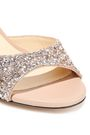 JIMMY CHOO Miranda 100 glitter-paneled leather sandals