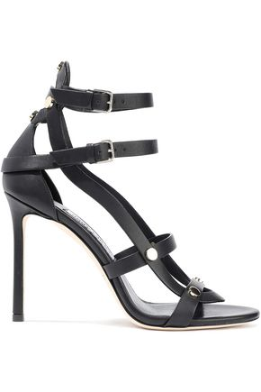 JIMMY CHOO Motoko 100 studded leather sandals