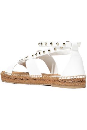 JIMMY CHOO Denise studded leather espadrille sandals