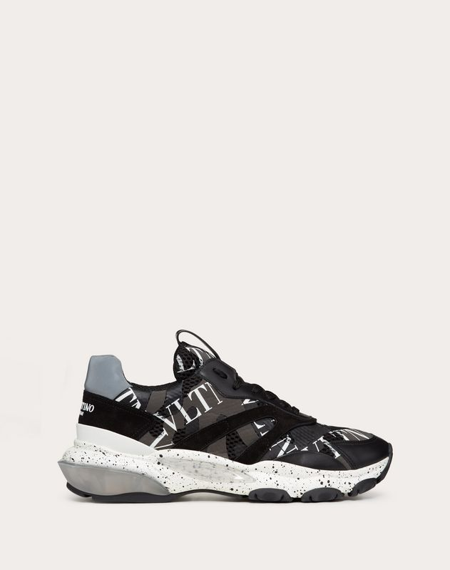 BOUNCE CAMOUFLAGE SNEAKER WITH VLTN GRID
