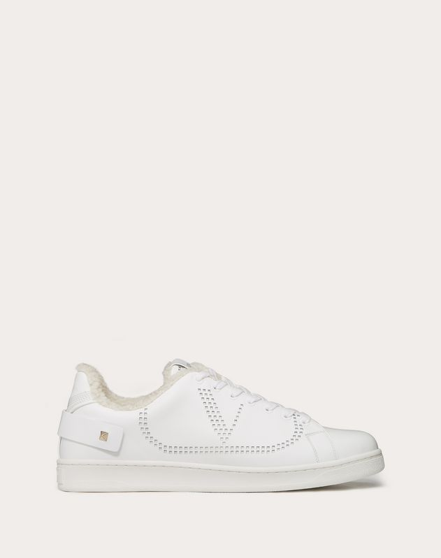 Leather BACKNET sneaker with sheepskin lining