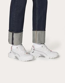 FABRIC AND LEATHER CLIMBERS SNEAKER