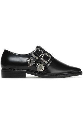 TOGA PULLA Embellished glossed leather brogues