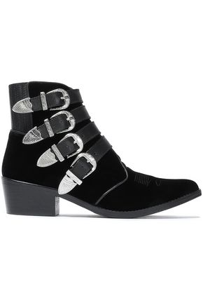 TOGA PULLA Embellished suede ankle boots