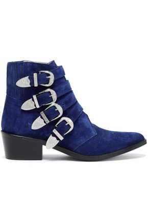 TOGA PULLA Buckled suede ankle boots