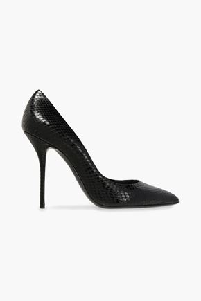 CASADEI Paraguay snake-effect leather pumps