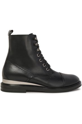 CASADEI Lace-up leather ankle boots