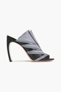 NICHOLAS KIRKWOOD Glittered zipper-embellished leather sandals
