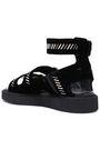 NICHOLAS KIRKWOOD Embellished velvet platform sandals