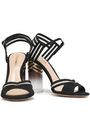 NICHOLAS KIRKWOOD Mesh-trimmed Lurex sandals