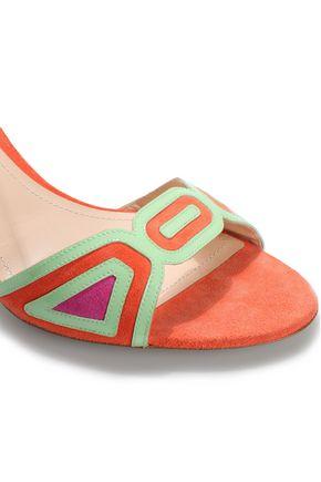 NICHOLAS KIRKWOOD Color-block suede sandals