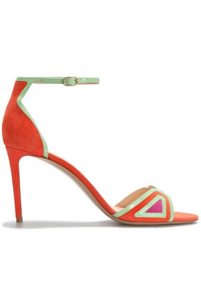 NICHOLAS KIRKWOOD Color-block suede sandals