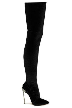 CASADEI Velvet over-the-knee boots