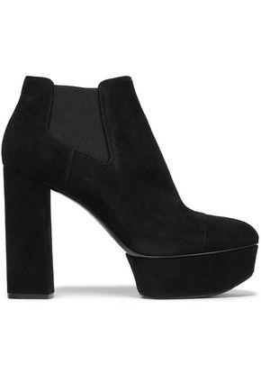 CASADEI Suede platform ankle boots