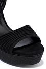CASADEI Sequin-embellished suede platform sandals