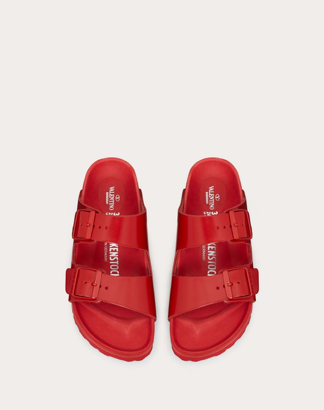 Leather slide sandal in collaboration with Birkenstock