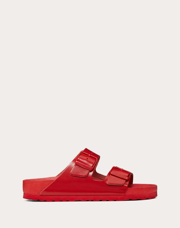 dfe78c78a46d Leather slide sandal in collaboration with Birkenstock for Woman ...