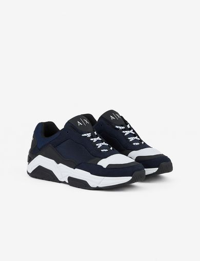 8e5c63840ba SNEAKERS WITH MICROSUEDE INSERTS