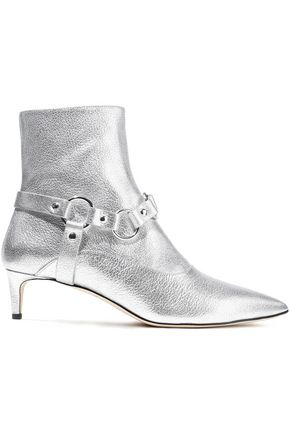 ALTUZARRA Davidson metallic textured-leather ankle boots