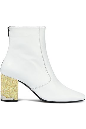 TOGA PULLA Embellished two-tone leather ankle boots