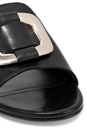 STUART WEITZMAN Buckled leather slides