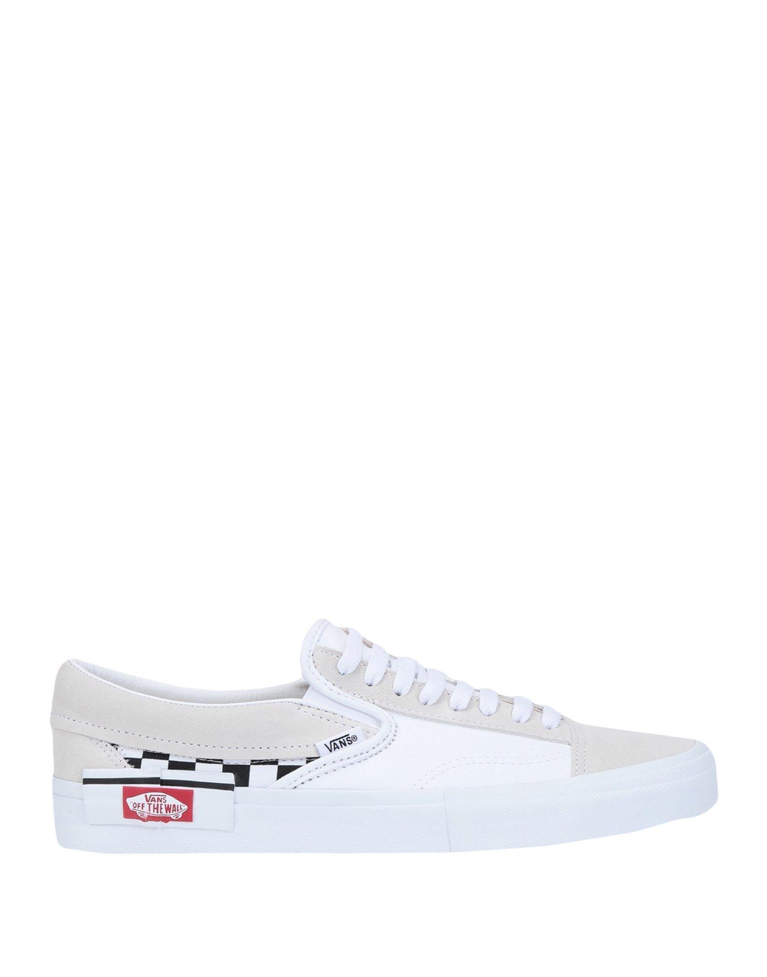 《セール開催中》VANS メンズ スニーカー&テニスシューズ(ローカット) ホワイト 8 革 / 紡績繊維 UA Slip-On CAP