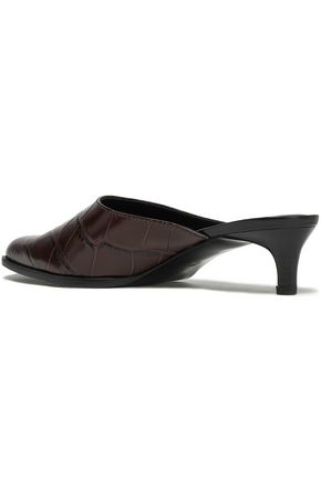 3.1 PHILLIP LIM Agatha croc-effect leather mules