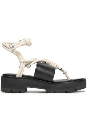 3.1 PHILLIP LIM Knotted leather platform sandals