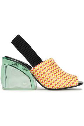 3.1 PHILLIP LIM Woven raffia slingback sandals